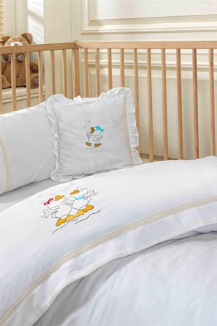Ecocotton Happy Duck Bebek Nevresim Seti Krem 100*150 cm